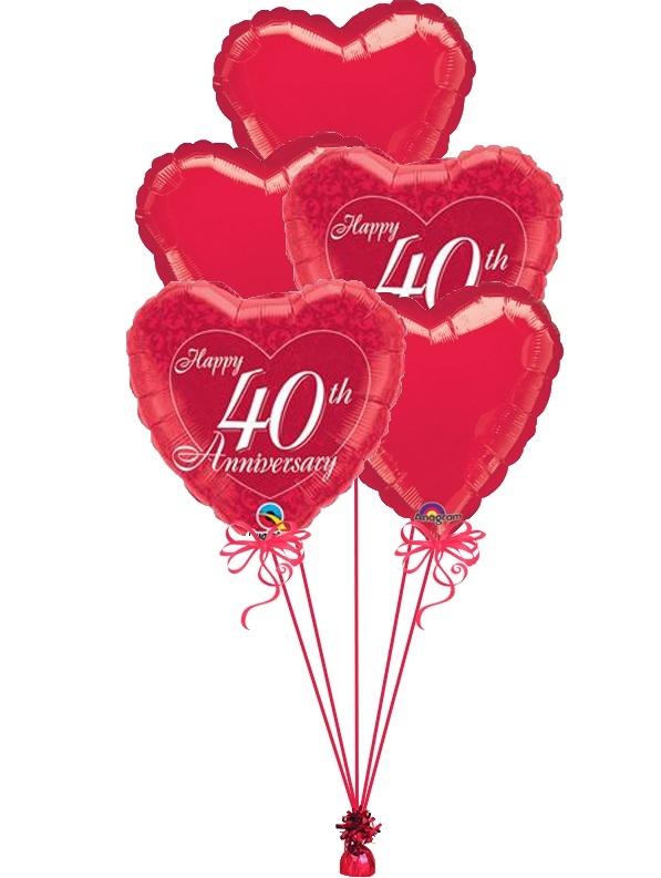 40th Anniversary Bouquets 3  sc 1 st  Balloon Studio & 40th Anniversary Balloons 40th Anniversary Bouquets Vancouver Canada ...