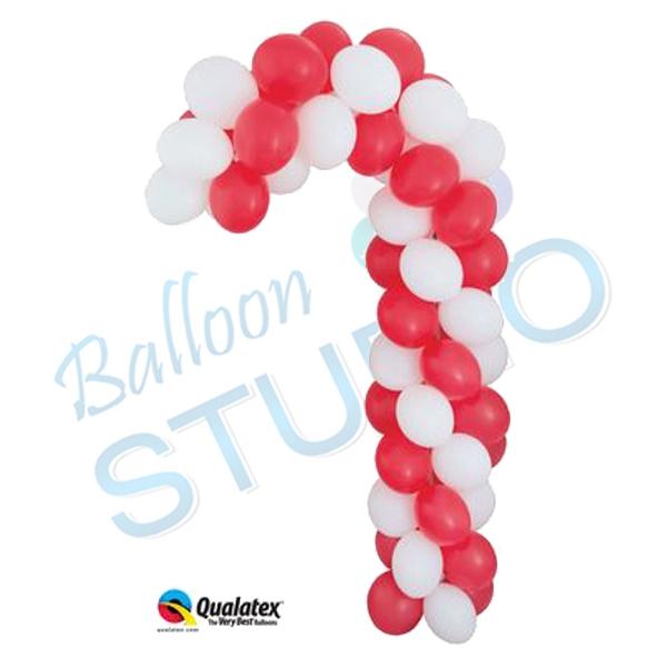 Balloon candy cane sculpture balloons vancouver jc balloon for Candy cane balloon sculpture