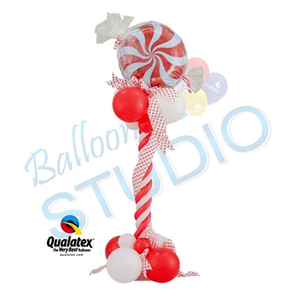 Christmas bouquet 5 balloons vancouver jc balloon studio for Candy cane balloon sculpture