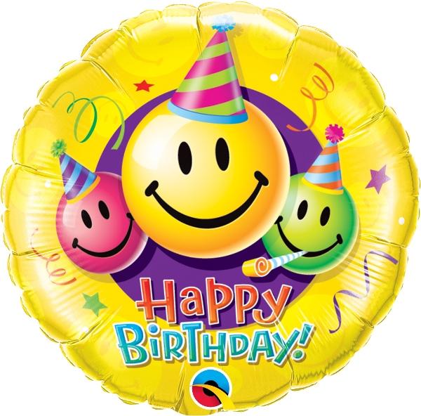 Emoji Birthday Smiley Faces Single Balloon Balloons Vancouver JC Studio