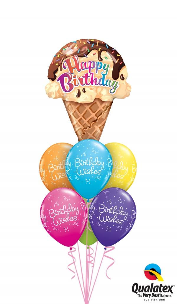 Birthday Sweets Ice Cream Balloons Birthday Sweets Ice