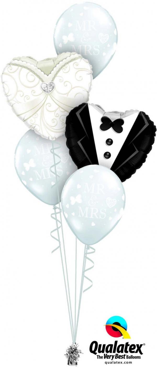 Wedding Bouquet Tux Dress 17 balloons vancouver JC Balloon Studio